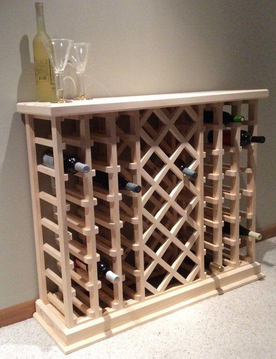 56 Bottle Lattice Style Wine Rack Wine Rack Diy Wine Rack Wine