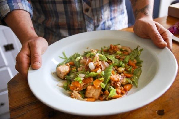 Gingered Salmon Stir Fry. #omega3 #glutenfree #easydinner