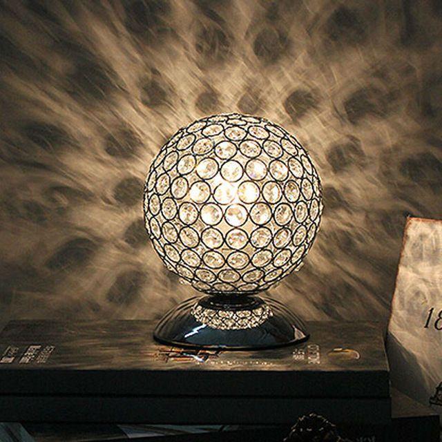 Moderno Cristal K9 lâmpada de Mesa Lâmpada de Cabeceira Sala de estar Escritório Abajur Decoração Iluminação E27 AC85-240V