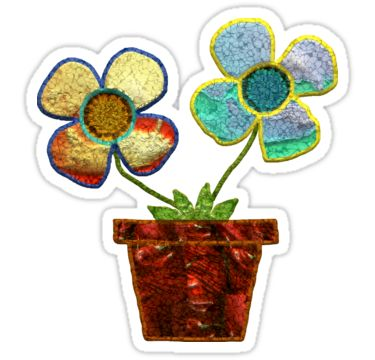 Flower Pot Duo Sticker by StickerNuts