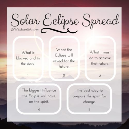In light of the August Solar Eclipse ☀ Tarot Card Spread Oracle Cards Divination Layout