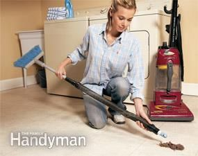 If your vacuum loses suction, clear the clogged hose quickly and easily with a bent wire, a broom handle or another vacuum.