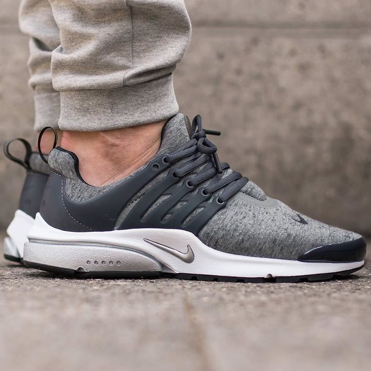 "#hbrecommends: @nike Air Presto ""Tech Fleece"" pack - Tumbled Grey/Black. Photo: @titoloshop by hypebeast"