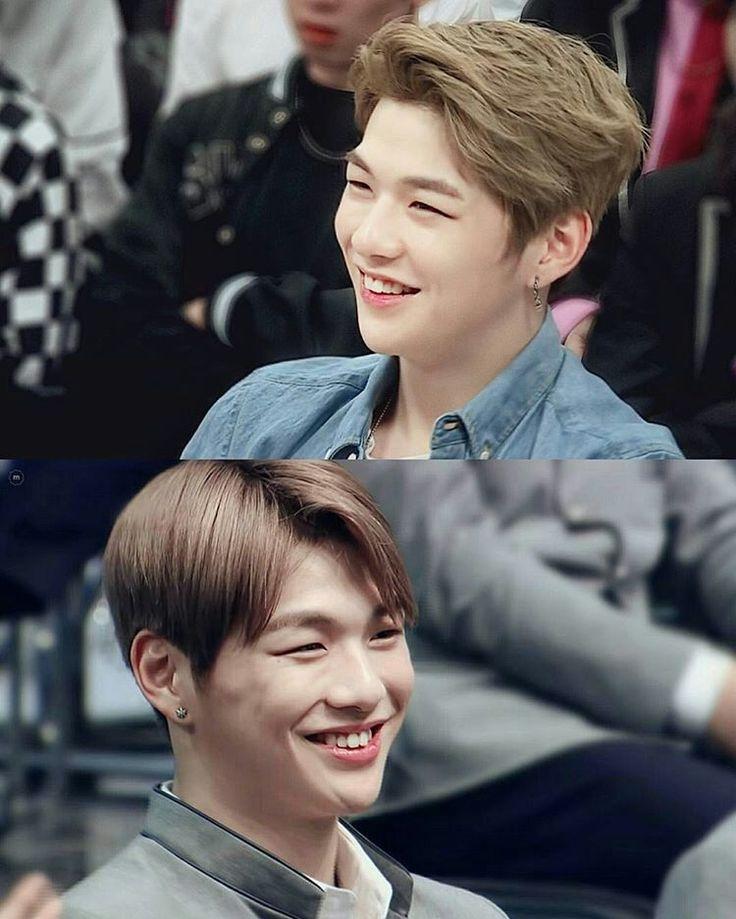 Hehe his smile is so cute