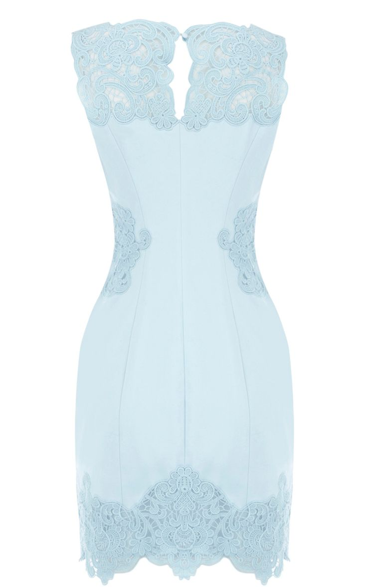 Karen millen Lace Sexy Light Blue Dress