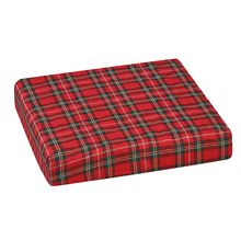 Polyfoam Wheelchair Cushion, Convoluted, Plaid