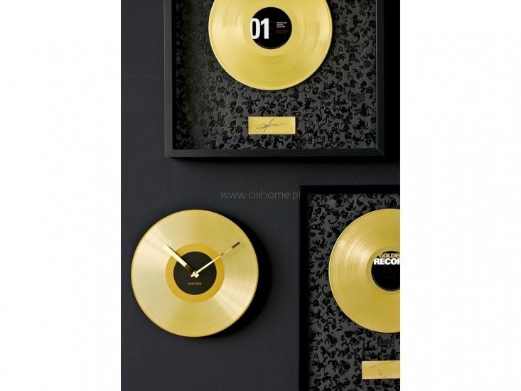 Zegar ścienny KARLSSON Golden Record  http://www.citihome.pl/zegar-scienny-karlsson-golden-record.html