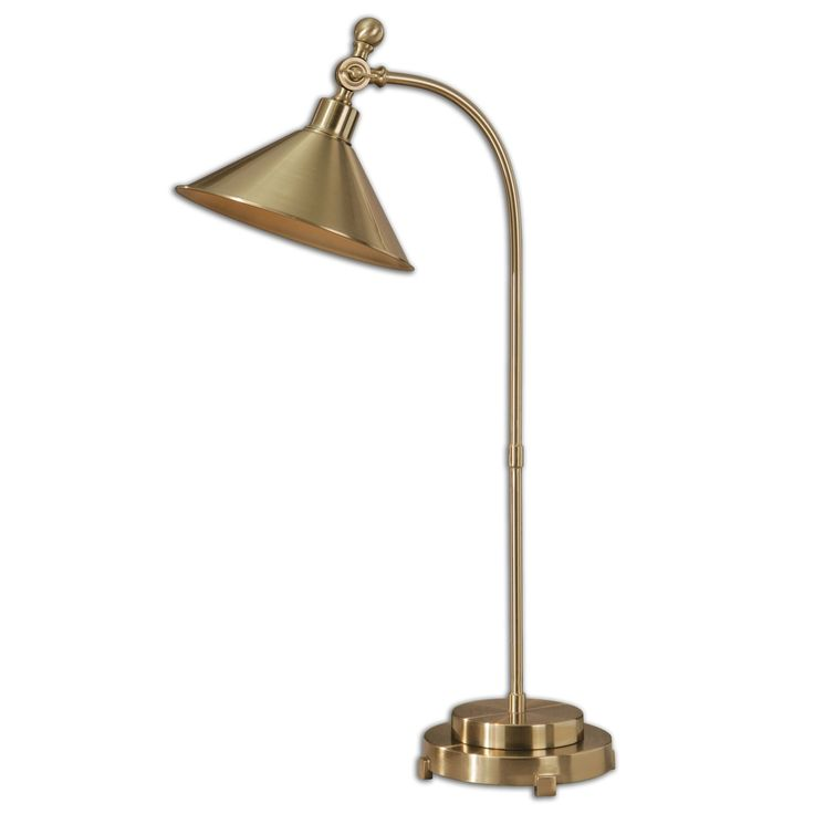 Delicately Curved Bronze Metal Creates A Dainty And Feminine Touch To Our Patton Desk Lamp Living Room