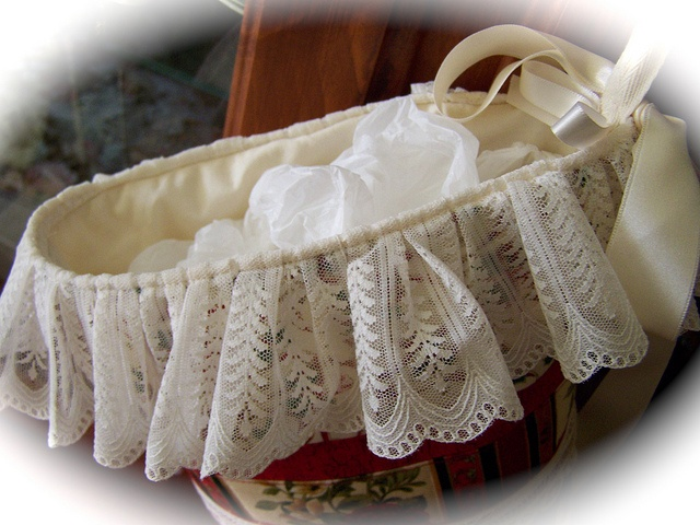"""Lace top to Vintage look Christmas Stocking by Created by Cath., via Flickr- www.createdbycath  """"Beautiful and Useable"""""""