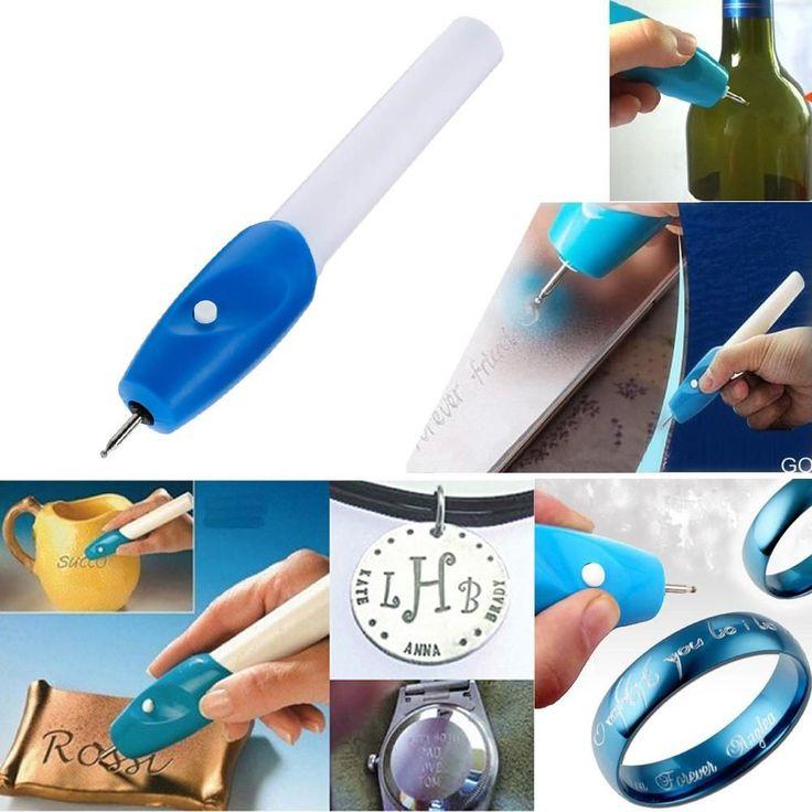 Electric Etching Engraving Pen Carve Tool Steel Jewellery Metal Plastic Glass Engraving Engraver Pen Kit Educational Equipment