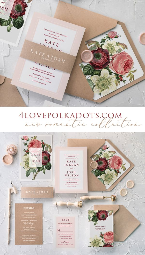 handmade wedding cards ireland%0A Fall in love with our romantic wedding invitations  new botanical  collection is delicate and ethereal
