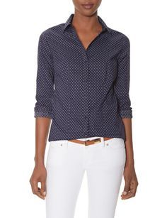 Printed Button Down Shirt from THELIMITED.com #TheLimited