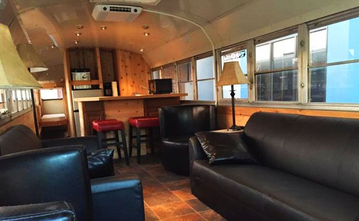 #RVing This school bus conversion will have you fooled from the outside...but when you look inside - just WOW! www.doityourselfrv.com