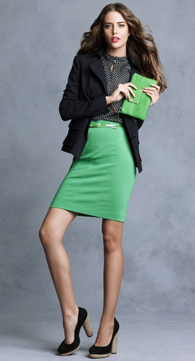 I LOVE business clothes! I almost want to work somewhere where I can wear a pencil skirt just for that reason :)