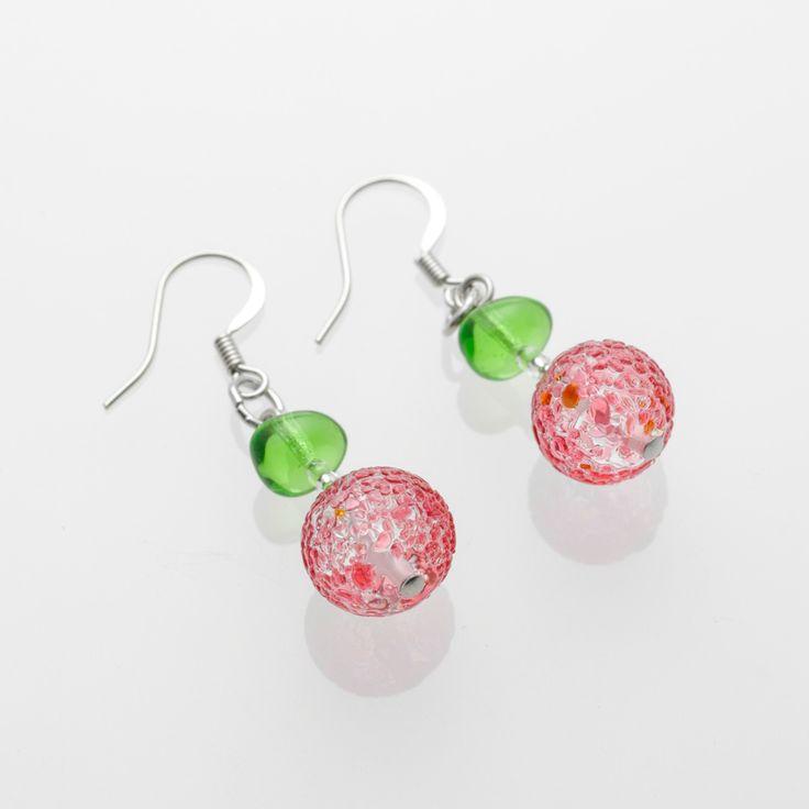 Artico Earrings - Venetian Murano Glass Jewellery for Australia - www.italianheart.com.au