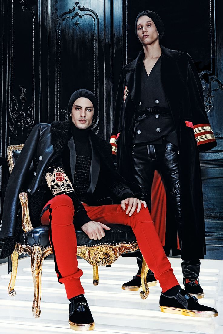 I just like the styling and set!  Balmain Fall 2015 Menswear - Collection - Gallery - Style.com