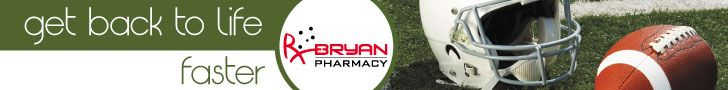 My ads- Bryan Pharmacy - Weather Banner - Fast Series Football