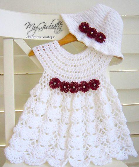 3542420165e4 Háčkované detské šaty