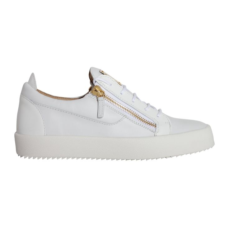 Giuseppe Zanotti Design Men's Rm7000006 White Leather Sneakers