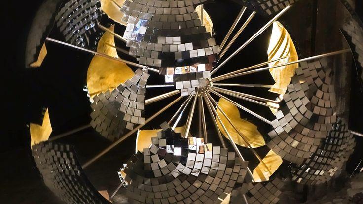Joachim Sauter and ART+COM's exploded disco ball revolves nostalgic messages at Les Bains