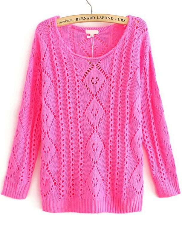 Rose Knit Round Neck Jumper