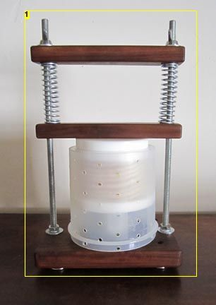 DIY cheese press. Make your own cheese press for making harder cheeses like cheddar.