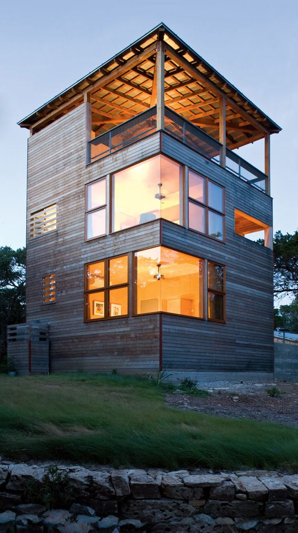Bon Tower Home Architecture In Wood And Stone