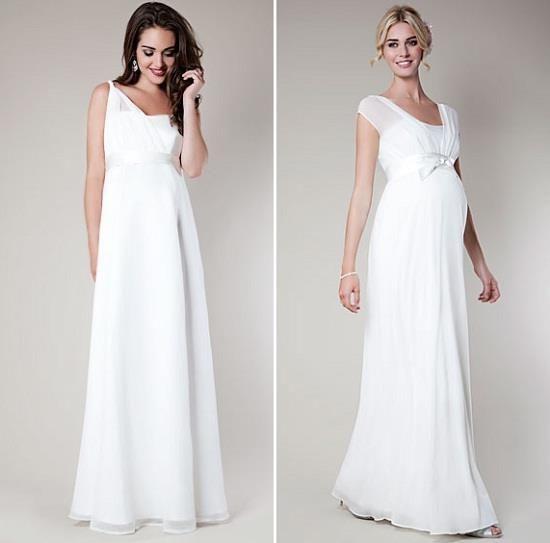 Как выбрать свадебное платье беременной