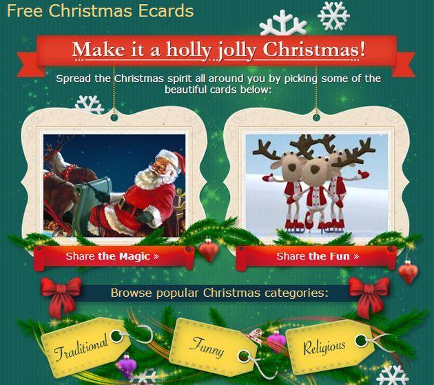 Free Christmas Ecards, las más bellas felicitaciones de Navidad para enviar a amigos y familiares