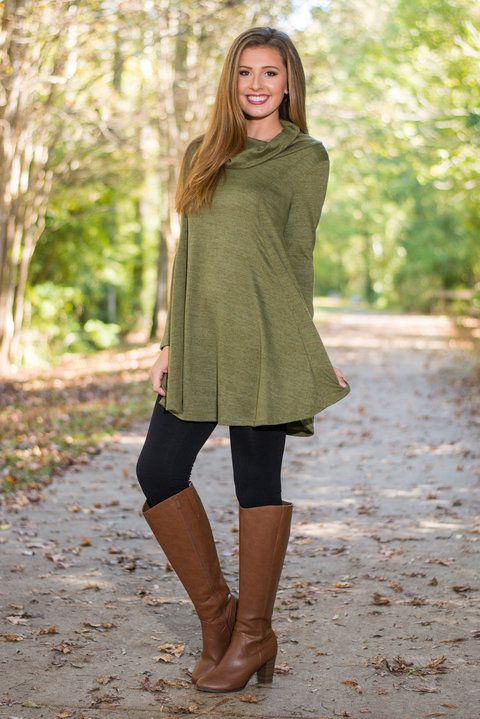 Lush Hour Traffic Tunic, Olive - The Mint Julep Boutique