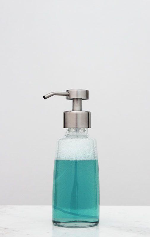 Coastal Glass Foaming Soap Dispensers | Foam Soap Dispensers | RAIL19 | www.rail19.com   Bathroom Design | Kitchen Sink Soap Dispensers | Kitchen Decor | Modern Decor