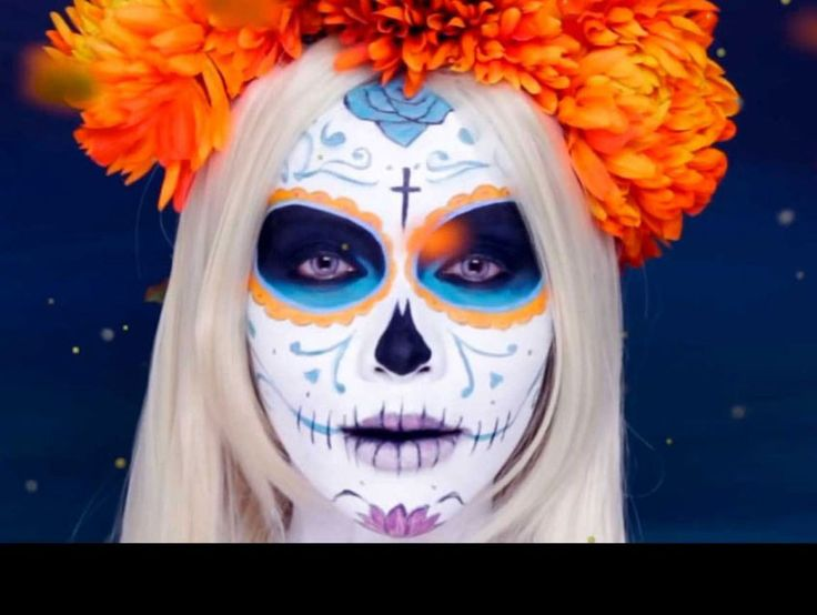 A how-to video for Dia de Los Muertos by Michelle Pham posted on Los Angeles Magazine