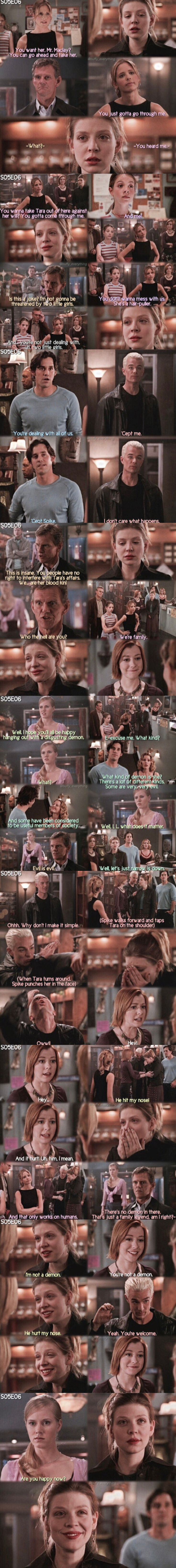 I had forgotten about this scene with Tara. Buffy is still my first fandom.