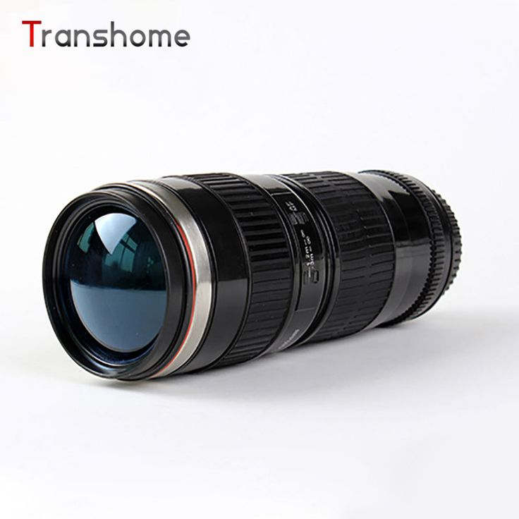 2016 Hot Canon 70-200 Lens Cup White Black Three Generations Stainless Steel Coffee Mug Travel Mugs Camera Hot Cup Transhome