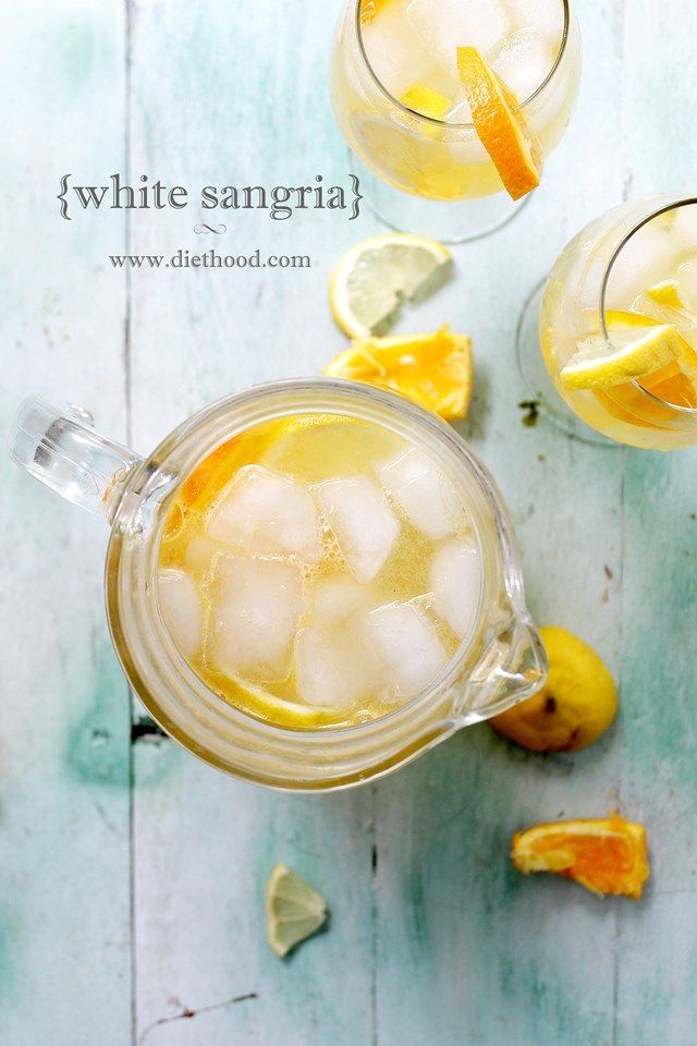 White Sangria Recipe: Fresh and fruity White Sangria made with white wine, triple sec, fresh orange juice and lemon juice.