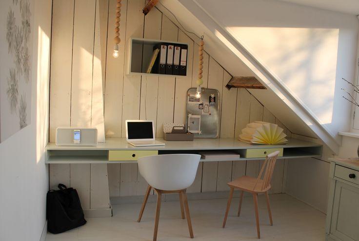 Meer dan 1000 idee u00ebn over Zolder Kantoor op Pinterest   Zolderruimtes, Kantoren en Zolderkamers