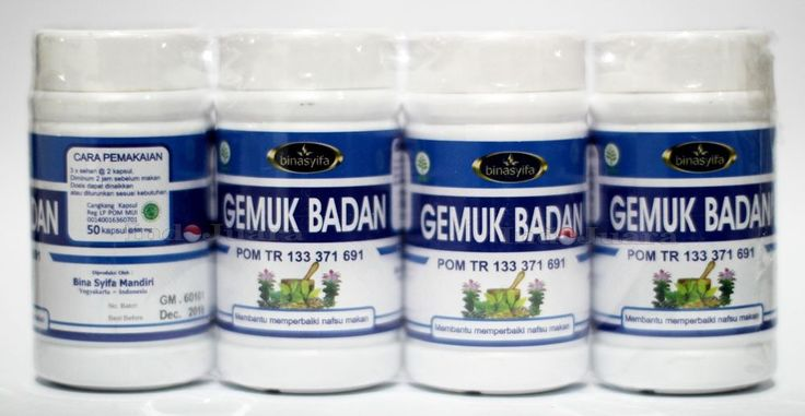 FREE SHIPPING WORLDWIDE..!! GEMUK BADAN is a herbal capsule made of 100% choice material that can increase appetite, improve digestive enzyme function, so as to increase absorption feeding in the intestine. GEMUK BADAN also contains various vitamins contained in its natural ingredients.