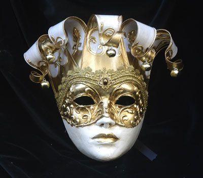 Joker Mask  Jester Masquerade Mask  Full Face Venetian Mask