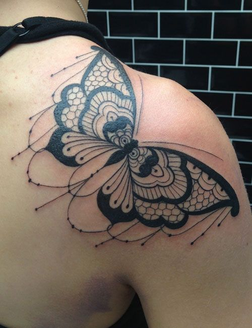 butterfly mandala tattoo