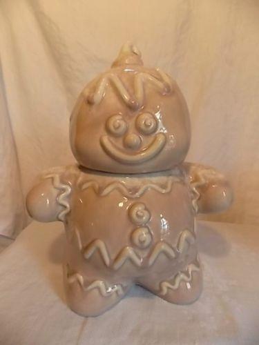 Vintage Hull Pottery Gingerbread Man Cookie Jar Sand Color | eBay