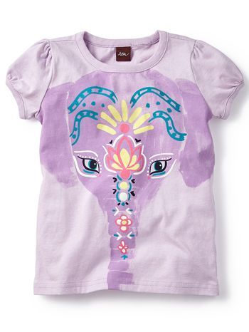 Tea Collection Painted Elephant Graphic Tee available at www.tinysoles.com! #TinySoles