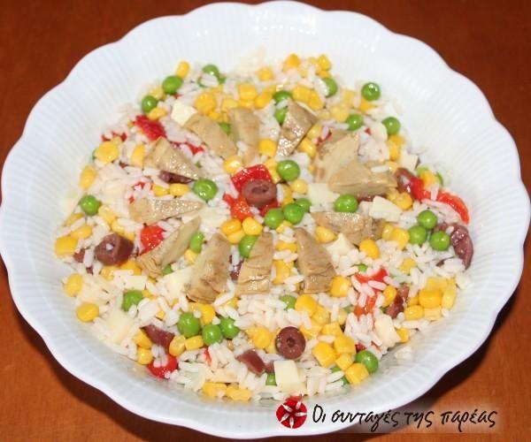 Ρυζοσαλάτα ιταλική από την Πάντοβα #sintagespareas