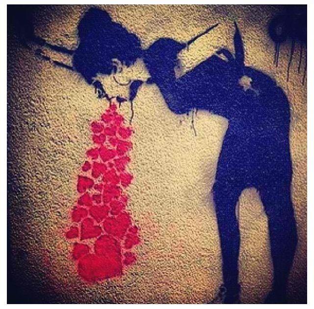 ❤❤graffiti art love sick
