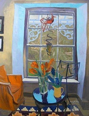 Jenny Wheatley. Looking out at the Veranda