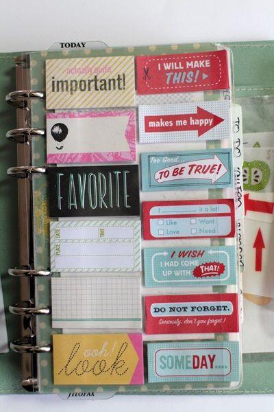 Filofaxing mit Notepads / Sticky Tags |Trudi Schlicht für www.danipeuss.de
