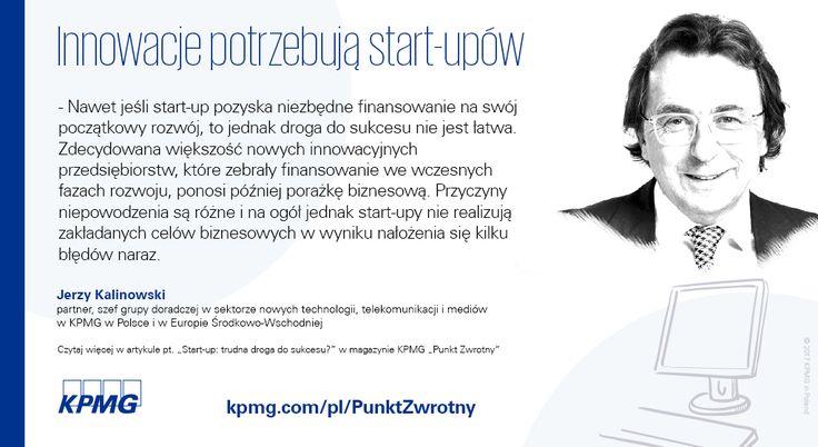 Dlaczego innowacje potrzebują startupów | Jerzy Kalinowski → | Innowacje i startupy – to dwa słowa, które zdominowały świat w 2016 r