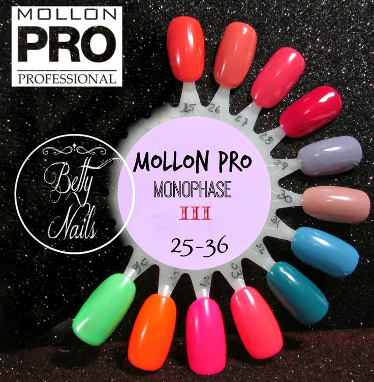 Betty Nails: Mollon Pro Monophase - III Collection 25 to 35 (4 Neons)
