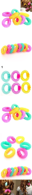 6/8Pcs Convenient Hair Magic Curler Rollers Spiral Curls Hair Styling DIY Tools C697