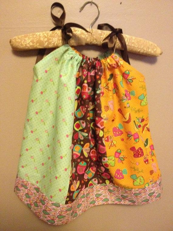 Custom Made Panel Pillowcase Dress Bright Fall by Biadsboutique, $25.00Decor Ideas, Pillowcase Dresses, Kids Stuff, Book Worth, Dresses Bright, Pillowcases Dresses, Bright Fall, Biad Boutiques, Panels Pillowcases