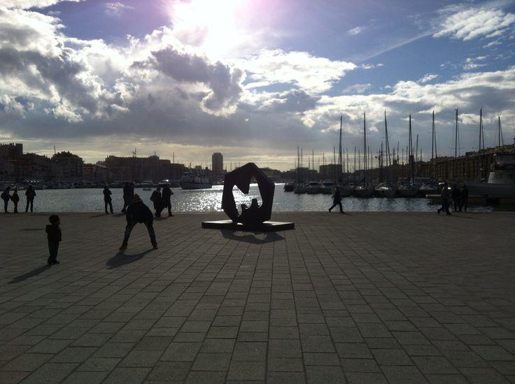 Marseille-Provence, capital de la culture 2013 au Vieux-Port.